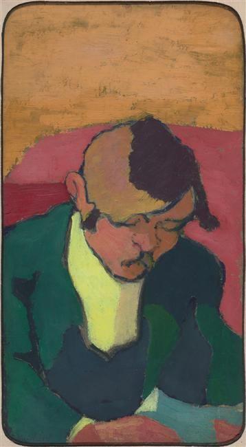 Portrait de Ker Xavier Roussel dit Le Liseur ca. 1890   Oil On Panel - 35 x 19 cm - 1890 - (Musée d'Orsay Paris, France)  Réunion des Musées Nationaux-Grand Palais -
