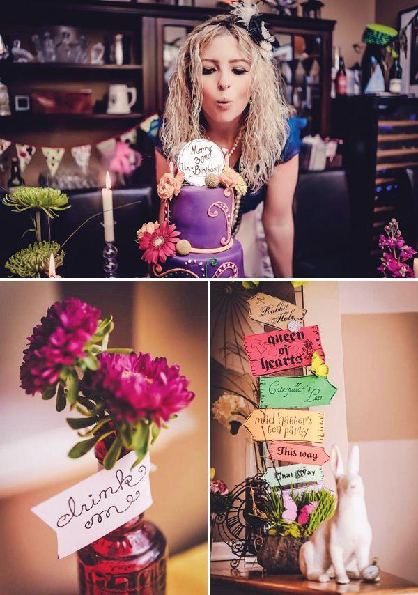 Very Merry 30th UnBirthday Party http://blog.hwtm.com/2013/06/alice-in-wonderland-very-merry-30th-unbirthday-party/