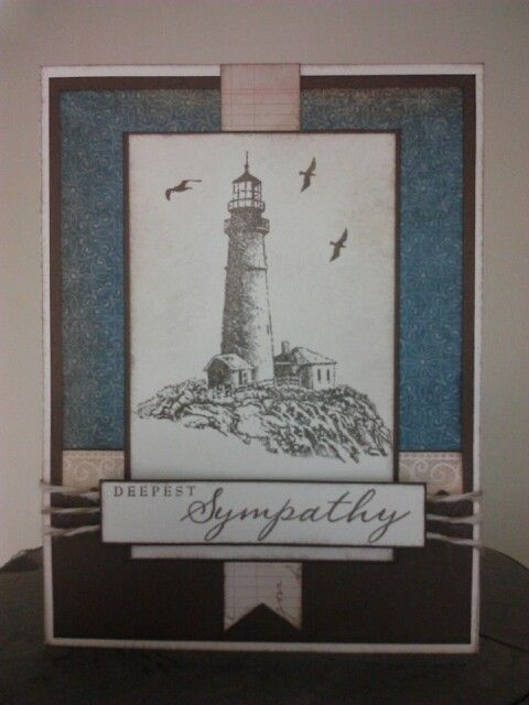 Card Making Ideas Close To My Heart Part - 39: Pretty Sympathy Card Using Seaside Greetings Stamp Set. Find This Pin And  More On Cards-CTMH ...