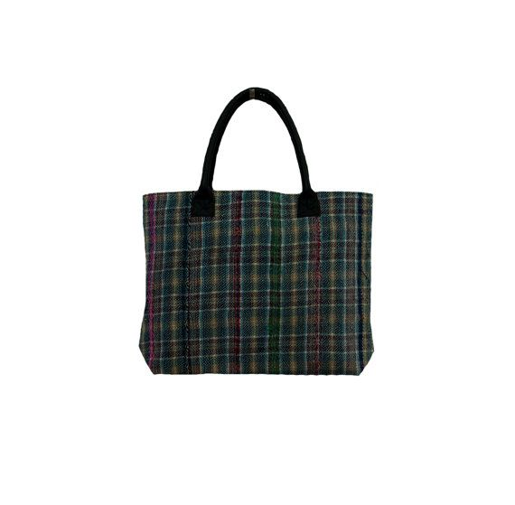 Vintage Large Sari Kantha Shopping Bag Hand by MyCraftPalace