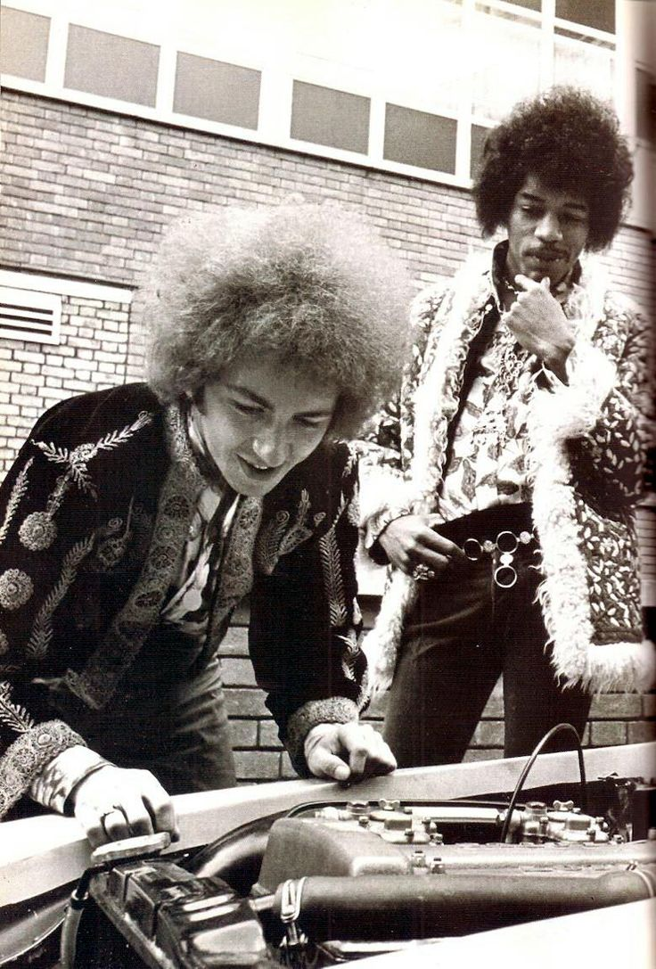 Jimi Hendrix and Mitch Mitchell under the hood.