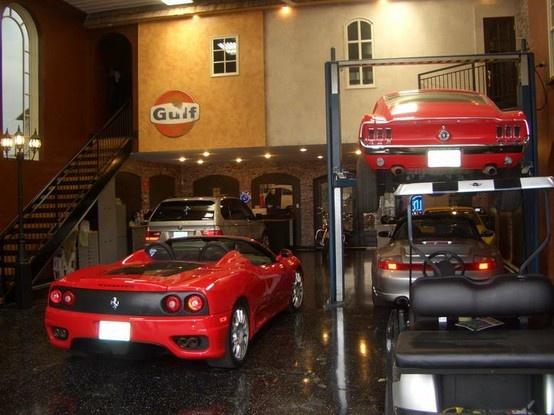 126 best cool garages images on pinterest car garage for Garage auto lyon 7