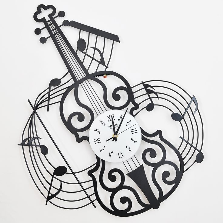 Colono drow moda musica orologio da parete violino orologio in ferro battuto muto orologio della decorazione della moda in Free shipping 18 box classic oversized solid wood wall photos living photo wall photo frame combinationUSD 336.00/setPhoda Orologi da parete su AliExpress.com | Gruppo Alibaba