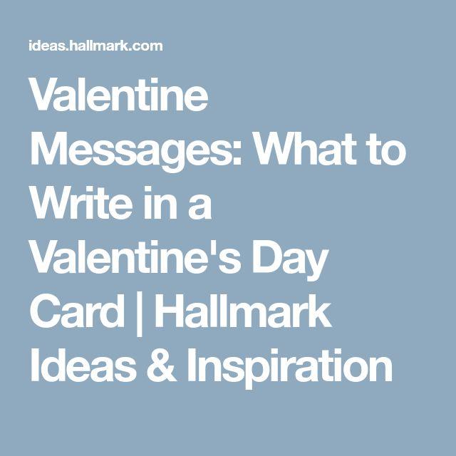 Valentine Messages: What to Write in a Valentine's Day Card | Hallmark Ideas & Inspiration