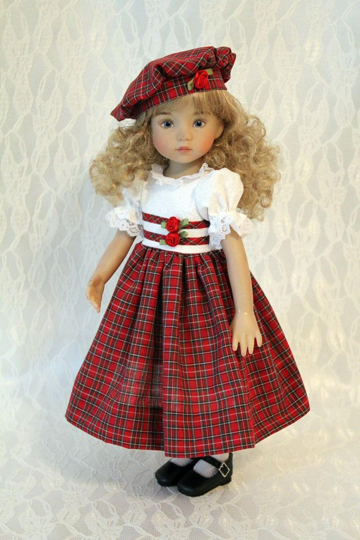 Christmas Dress And Hat For 13 Inch Effner S Little
