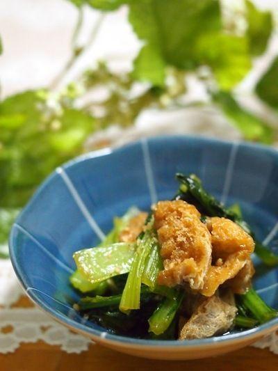 小松菜と油揚げのきんぴら風 by ゆずママさん   レシピブログ - 料理 ...
