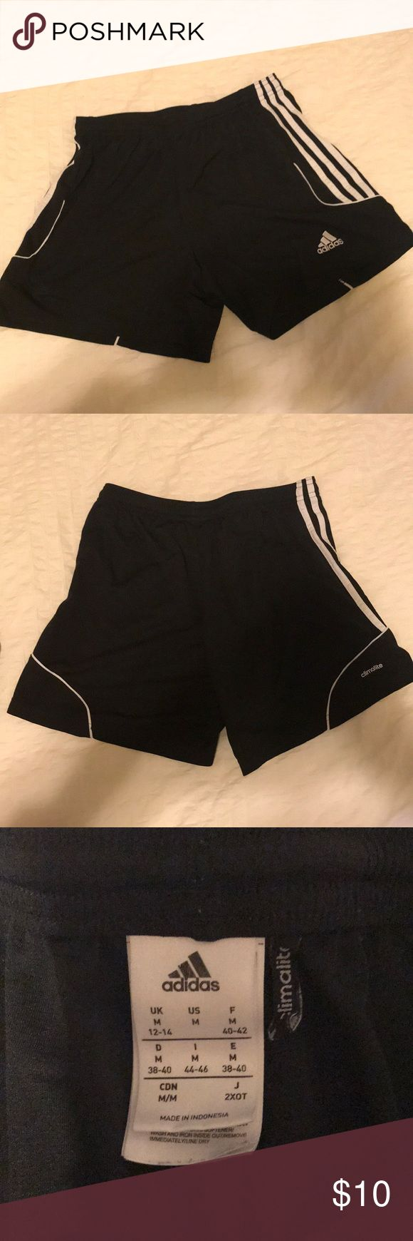 Women Adidas Soccer Shorts Black soccer shorts, barely worn! Shorts