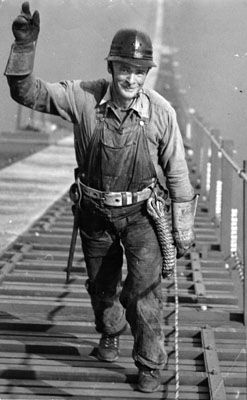Construction Worker for the Golden Gate Bridge, 1935