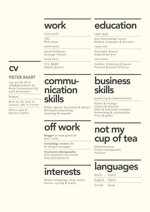 82 best Template Cv Infografica Gratis images on Pinterest Free - show me a sample of a resume