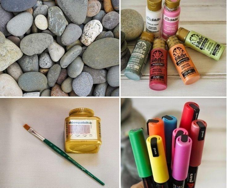 C mo pintar mandalas en piedras pasos para pintar for Como pintar piedras