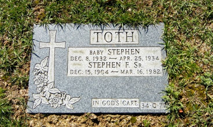 Baby Stephen, 1932-1934, and his father Stephen F. Toth, 1904-1982