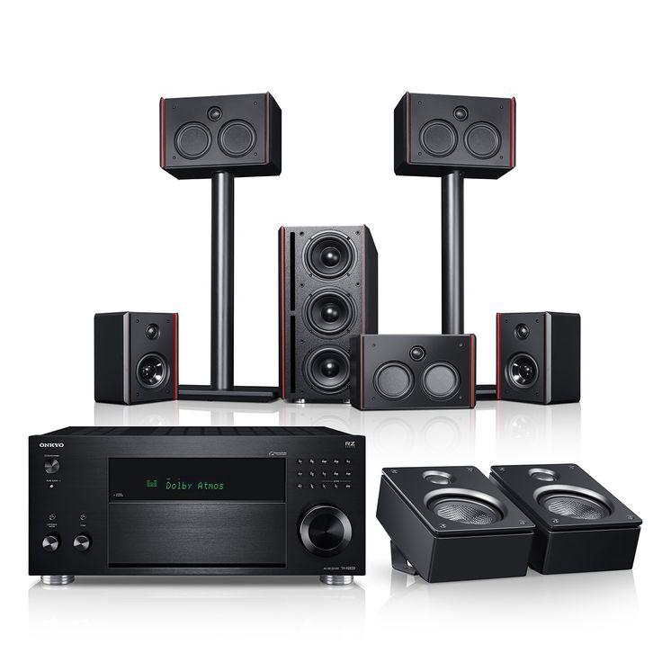 """System 4 THX AVR für Dolby Atmos """"5.1.2-Set"""" jetzt kaufen! Spielfertige 5.1.2-Komplettanlage mit THX-Lizenz inkl. Onkyo AV-Receiver und Dolby Atmos Höhenlautsprecher für ein Heimkino-Erlebnis der Extraklasse ✔ Inhalt des Komplett-Sets: System 4 Surround Set inkl. Subwoofer, Onkyo Receiver TX-RZ820, 2 x Reflekt Dolby Atmos Lautsprecher, Kabel-Set! Spielfertig und aufeinander abgestimmt, es werden keine weiteren Komponenten oder Kabel benötigt"""