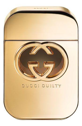 Guilty de Gucci es una fragancia de la familia olfativa Oriental Floral para Mujeres. Guilty se lanzó en 2010. Las Notas de Salida son mandarina y pimienta rosa; las Notas de Corazón son geranio, durazno (melocotón) y lila; las Notas de Fondo son pachulí y ámbar.