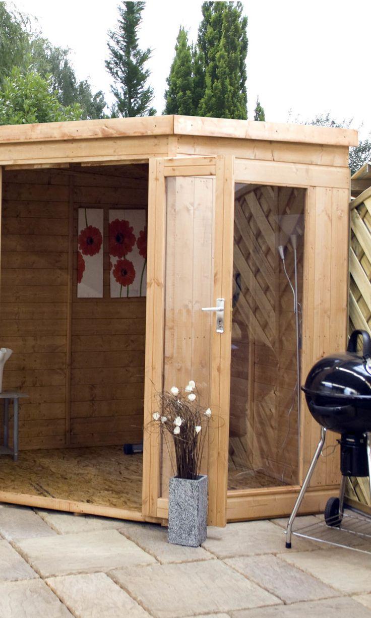 mercia garden products corner summerhouse shed - Corner Garden Sheds 7x7
