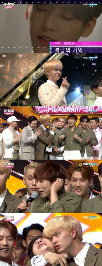 Btob win first trophy on Show champion! #KPOP #CUBE #BTOB #REMEMBERTHAT