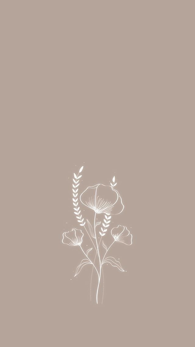 Simple And Aesthetic Floral Iphone And Android Wallpapers Simpleaestheticwallpaper Wallpapers Iphone Android Minimal Wallpaper Prints Aesthetic Wallpapers