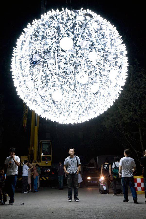"""""""Artificial Moon"""" installation by Wang Yuyang"""