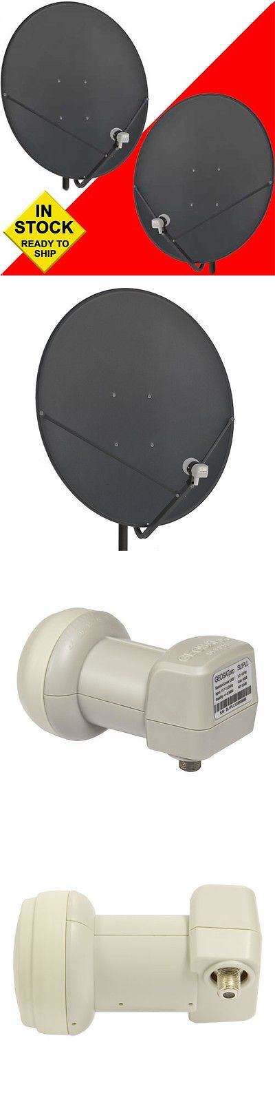 Antennas and Dishes: Two (2) 36 Inch 90 Cm Free To Air Fta Satellite Dishes And 2 Free Hd Pll Lnbfs -> BUY IT NOW ONLY: $179 on eBay!