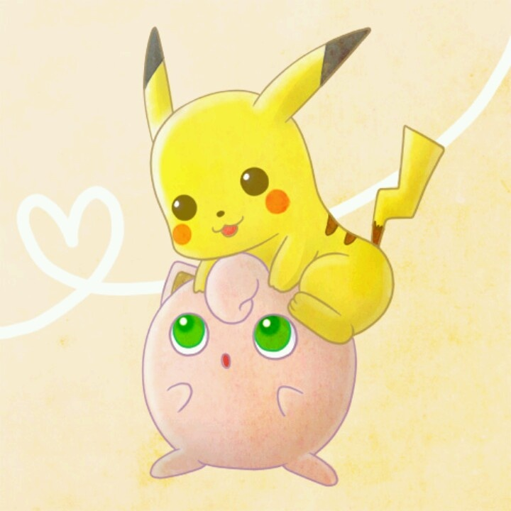 Pikachu and Jigglypuff