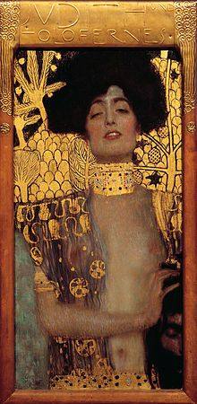 Klimt's explicit 1901 version of Judith and the Head of Holofernes was shocking to viewers and is said to have targeted themes of female sexuality that had previously been more or less taboo.