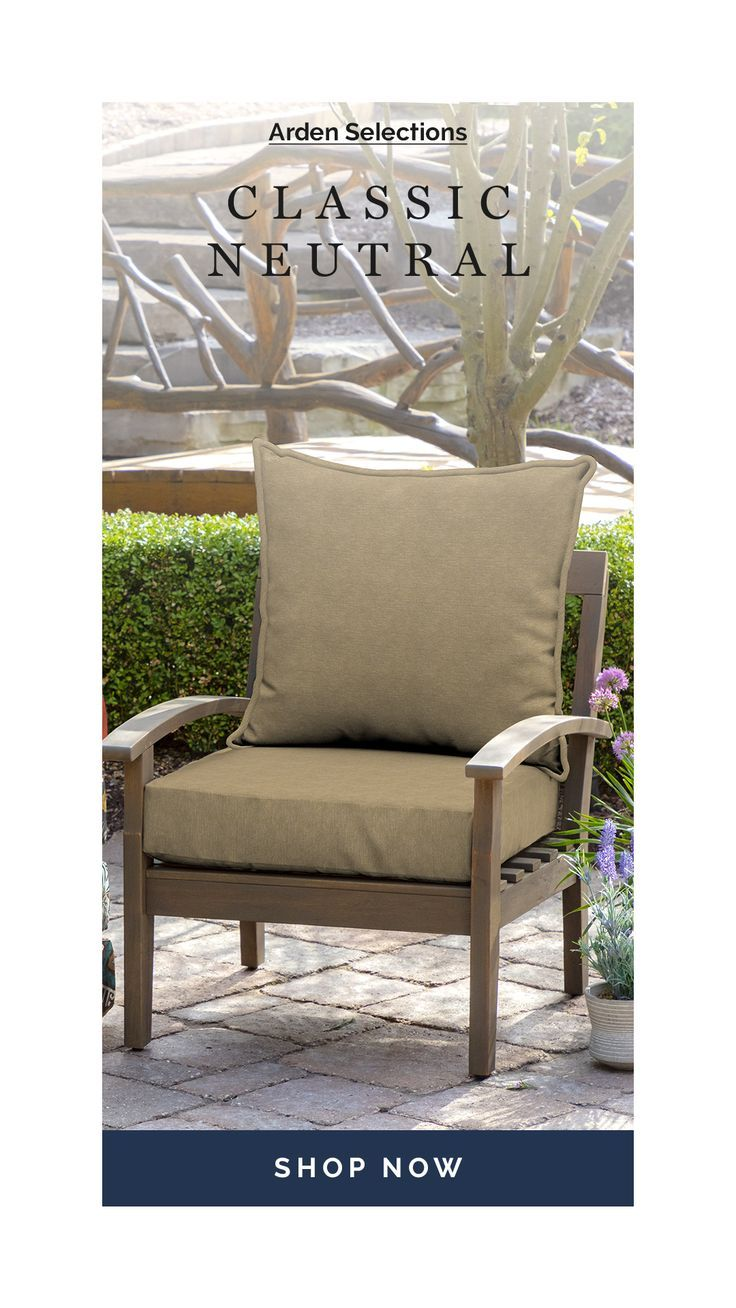 Arden Selections Arden Selections Olefin 46 5 X 24 In Deep Seat Cushion Set At Lowes Com In 2020 Deep Seating Patio Chair Cushions Replacement Patio Cushions