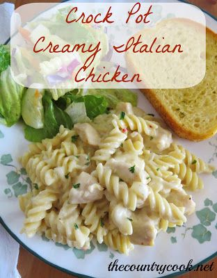 Crock Pot Creamy Italian Chicken - 1-2 pounds cubed boneless skinless chicken