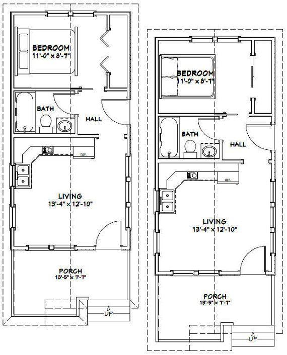 14x28 Tiny Homes Pdf Floor Plans 391 Sq By