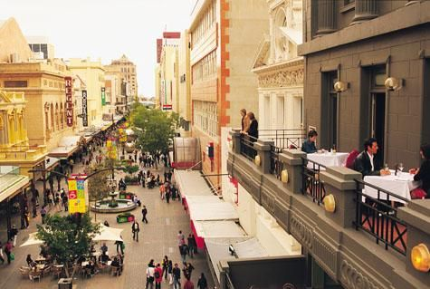 Street Scene in Rundle Mall, Adelaide City Centre - Great Accommodation, Hotels, Tours & Information