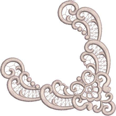 Sue Box Creations | Download Embroidery Designs | 33 - Fleur Corner