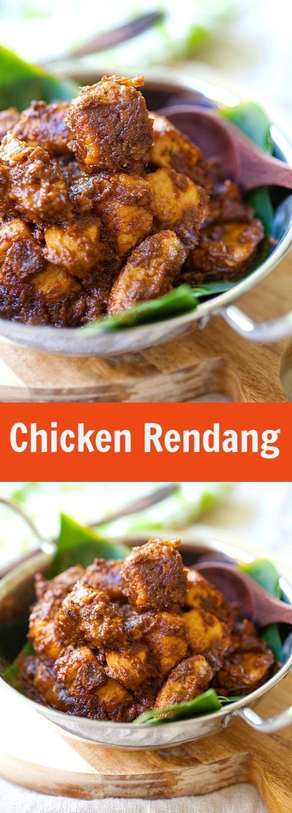 Chicken Rendang – amazing Malaysian-Indonesian chicken stew with spices and coconut milk. Deeply flavorful. The best rendang recipe ever | http://rasamalaysia.com