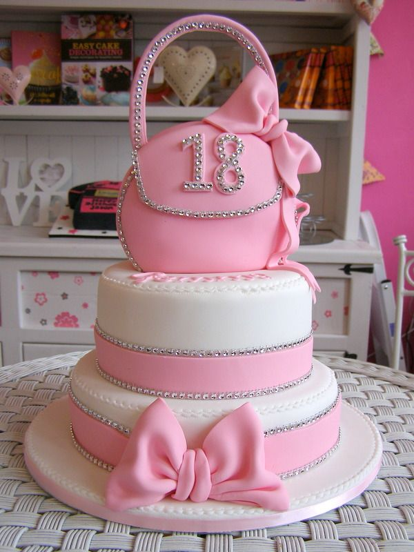 Pink 2 Tier Handbag Cake No Purse And Sweet Sixteen