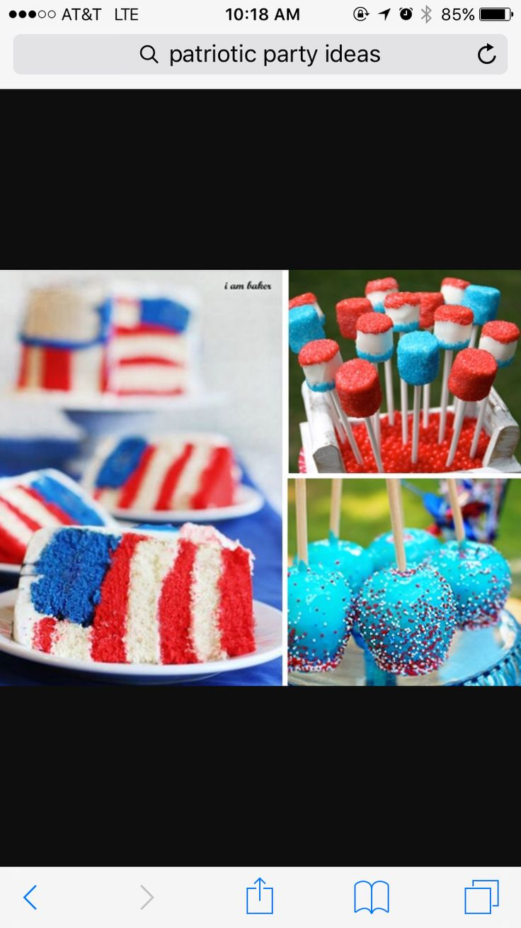 lets make that cake in montana! Red, White & Blue Dessert Recipe Ideas for  July