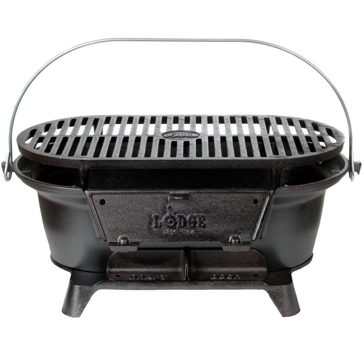 Lodge Cast Iron Grill- we have this and love it. It's heavy but a great little cooker for camp fun.