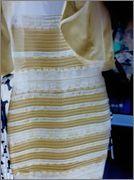 Vestito blu e nero oro o bianco