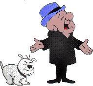 mister magoo | Mr. Magoo e seu cachorro de estimação, McBarker.