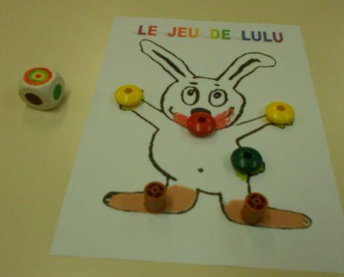"""jeu de Lulu (""""Toutes les couleurs"""" d'Alex Sanders)"""