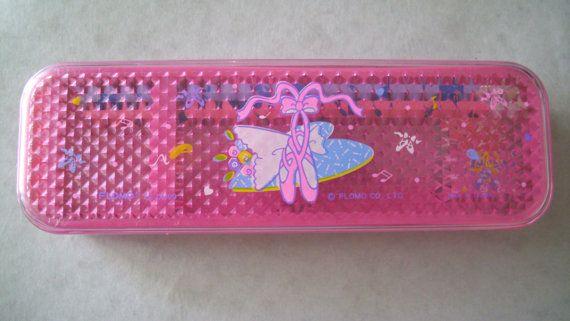 80s Flomo Ballerina Shoes Pencil Box. Vintage Rare by JirjiMirji, €58.00