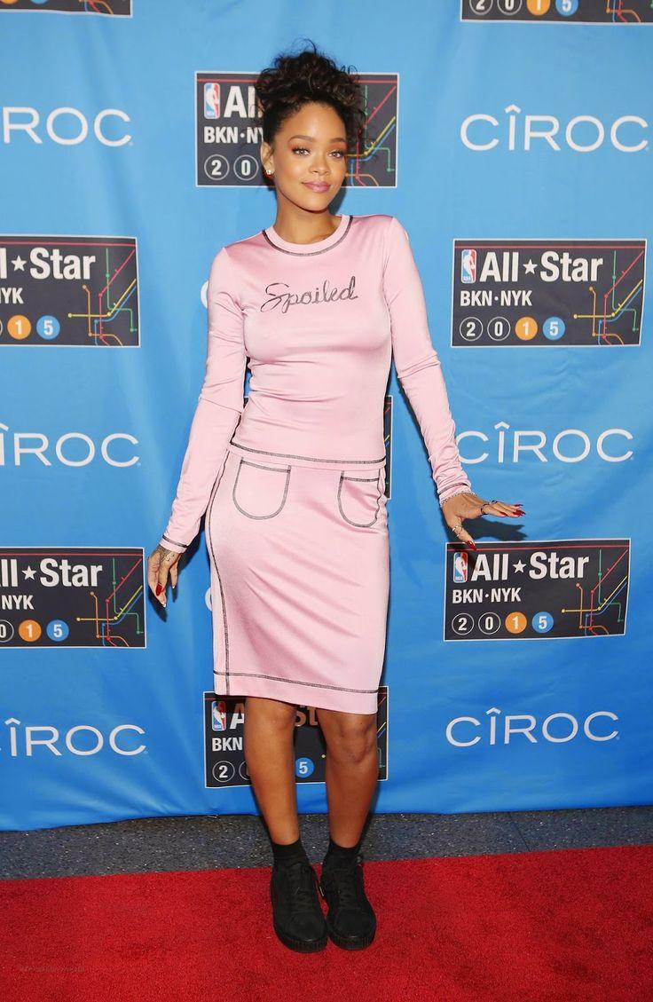 Rihanna at NBA All-star Weekend at Barclays Center in New York