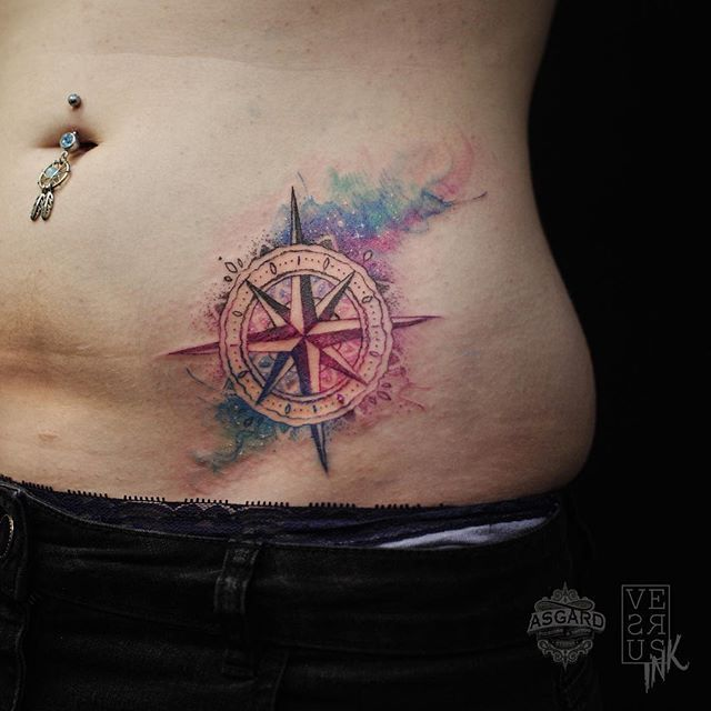 like the tattoo, but not the placement. it would take a really talented tattoo artist to do the watercolor like this.
