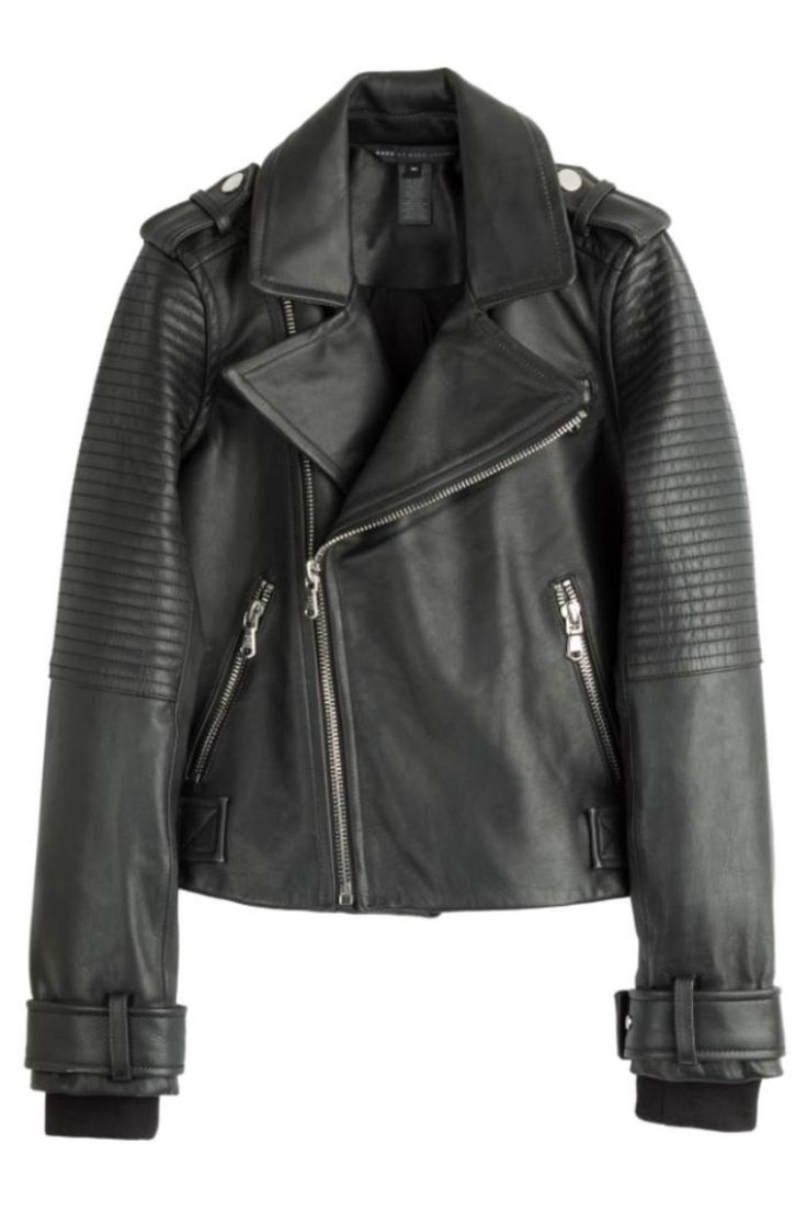 The leather jacket by Marc By Marc Jacobs features ribbed details and silver hardware.   Moto Leather Jacket by Marc By Marc Jacobs. Clothing - Jackets, Coats & Blazers - Jackets - Leather Canada