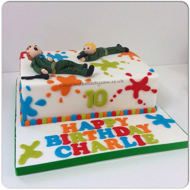 Paint ball themed birthday cake