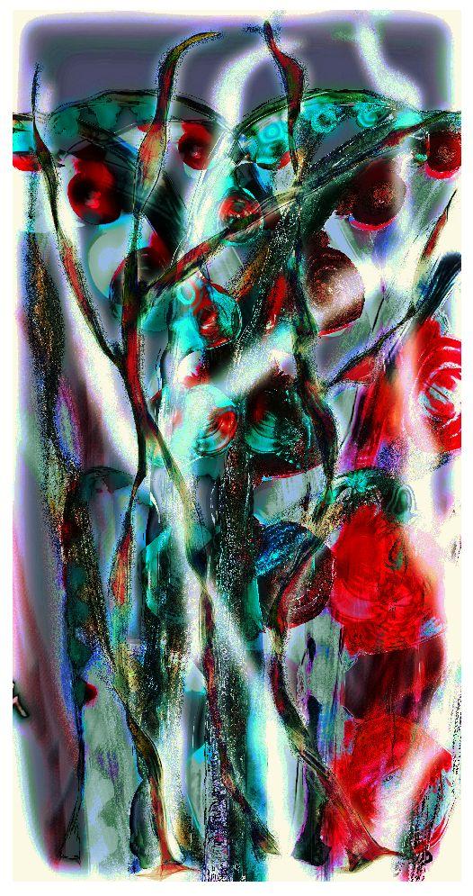 Flowers Universe combined technique, 2013, by JITA Vasagita Sagitarius http://vasagita.blogspot.cz/