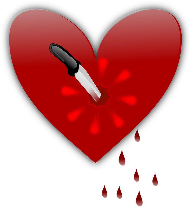 Stabbed Broken Heart Knife Heart
