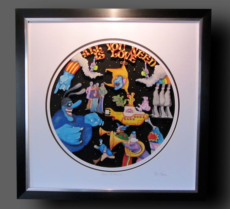 """The Beatles """"Dreams Of Pepperland"""". Mixed media using 9mm Birch, acrylics,inks. 27""""x 27"""" £240."""