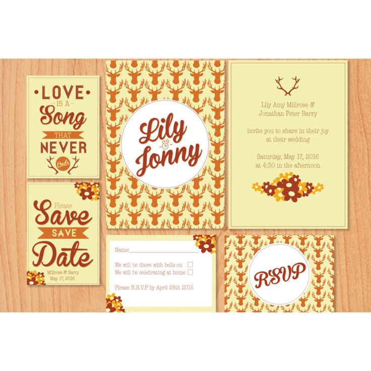 Our bespoke rustic country wedding themed wedding stationery.