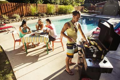 You're hosting your first pool braai party of the summer and guess what? You're totally relaxed and in control! With a reliable braai set, and a few patio chairs and table, you're on your way to a fun afternoon. Oh wait, got matches to light the fire? :-) For everything you need, visit www.checkers.co.za
