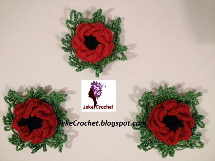 Amapola - Papavero - Poppy Flower (modelo 1) - Crochet- Ganchillo - Unci...