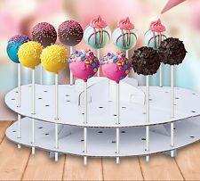 Cake Pop Stand Decoración Lollipop Decoración Pantalla Soporte De Cartón 44pcs Nuevo