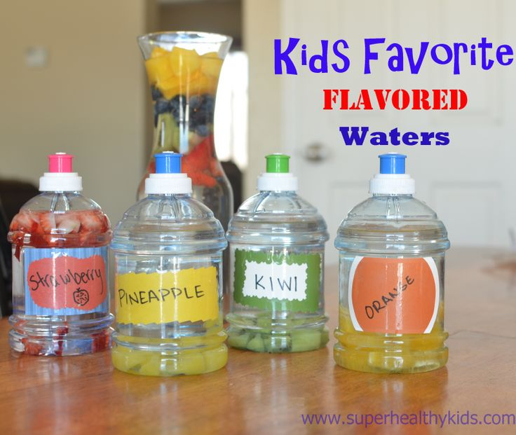 Great idea for better hydrating our kids...make your own flavored water with fresh fruit!...For more ideas for school lunches visit https://www.facebook.com/SchoolLunchIdeas