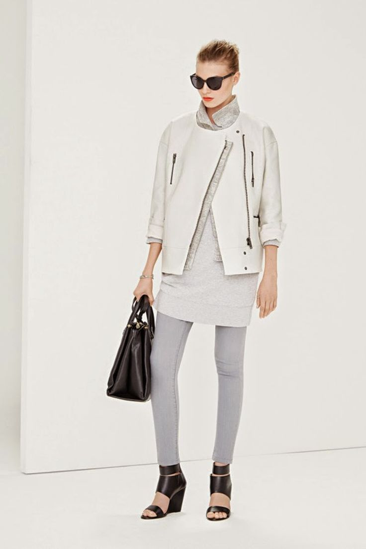Looks Modern and Great With Cocoon Silhouette Biker Jacket.